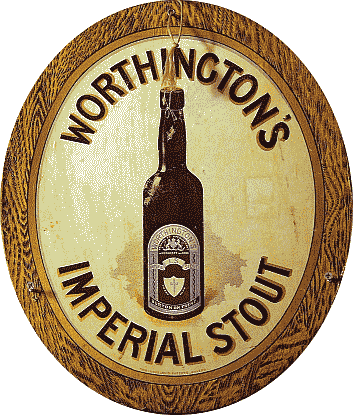 Worthingtons Imperial Stout reclame